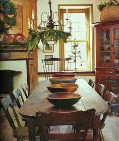 Prim Christmas Dining...