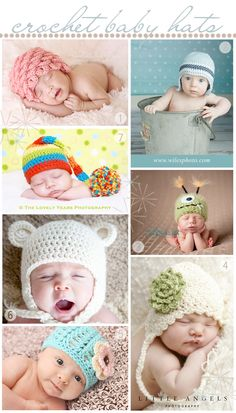 Links for patterns to each of these hats on Live Originally they're soooo cute!