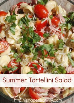 Summer Tortellini Salad Recipe. This is delicious ~ A co-worker made this and brought it to work.  YUMMO