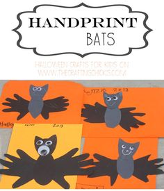 holiday, halloween crafts for kids, handprint bat, kids halloween crafts, bats, art, craft projects, kid crafts, craft ideas