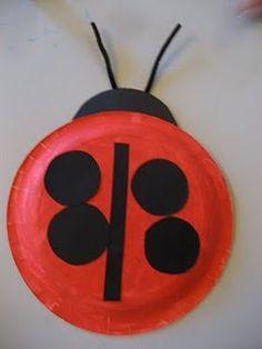 Paper plate ladybug!