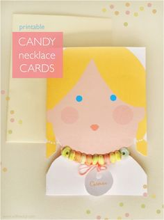 candy necklace card printable