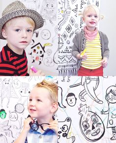 Roxy Marj Coloring Posters  Set of 3 by romawinkel on Etsy, $36.00