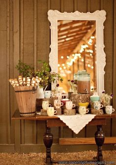Hot Chocolate bar for reception!!!
