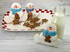 Adorable snowman Christmas cookies  #Christmascookies