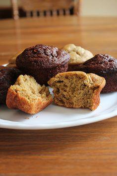 Gluten-Free, Sugar Free Chocolate & Banana Muffins