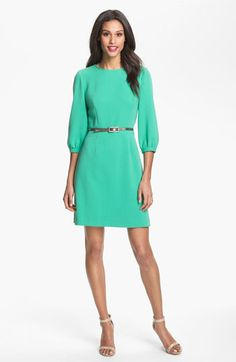 Belted A-Line Dress