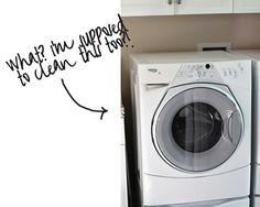 Clean your washing machine monthly