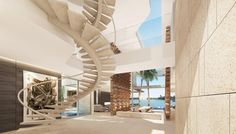 Modern Home Design Staircase, Venetian Islands, Miami by SAOTA