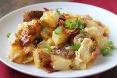 Loaded Baked Potato & Chicken Casserole-