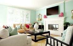decor, idea, living rooms, bedroom colors, beach hous, family rooms, paint colors, martha stewart, live room