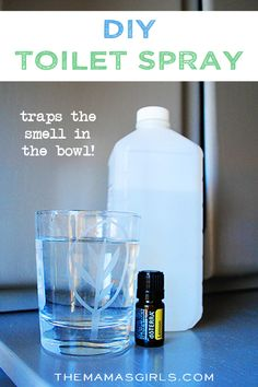 DIY Toilet Spray! Traps the smell in the bowl!