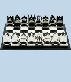 PRADA Saffiano Leather Chess Set with Metal Chess Piece and Leather Case