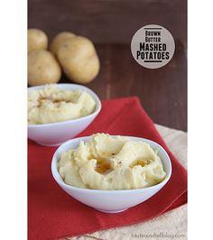 Brown Butter Mashed Potatoes | www.tasteandtellblog.com #recipe #potatoes #thanksgiving