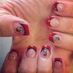 toe, season, georgia bulldogs nails, georgia bulldog nails, decal, ga bulldog