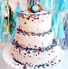 glittery cake