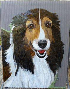 Cute mosaic puppy        #mosaic #animals