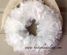 Recycled Shopping Bag Wreath | AllFreeHolidayCrafts.com