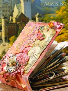 @Asia King is crafting a darling album with #Stampendous and #ScrapbookAdhesives! Gorgeous project, great prizes!!
