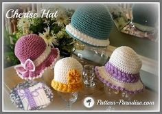 Hat Sunhat Beanie Cloche Purse Crochet Pattern PDF 14-129