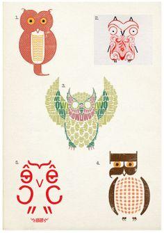 owl typography