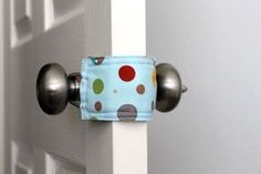 LOVE this! Latchy Catchy door jammer for baby rooms