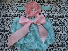 lace bloomer and headband