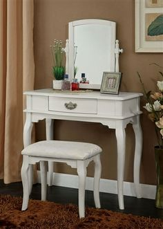 Tilly White Makeup Vanity Table #makeupvanity