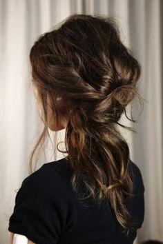 Messy loose ponytail