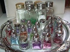 Salt and Pepper Glitter Shakers