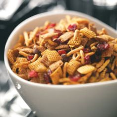 Healthy Snack Recipes from Taste of Home, including Curried Cran-Orange Snack Mix Recipe #healthy #snack