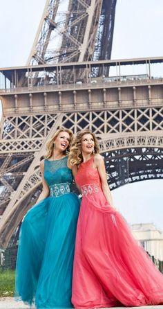 beautiful color evening dresses