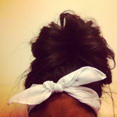 for a lazy day head scarfs, messy hair, head wraps, headband, messy buns, lazy hair, summer hairstyles, beach hair, hair buns