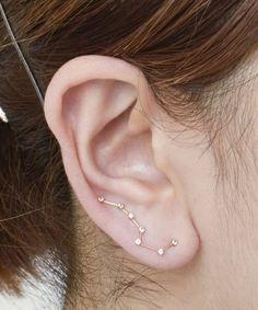 Cool constellation earrings.