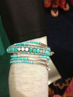 Love these #turquoise #silpada bracelets together!