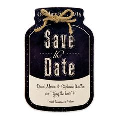 Mason Jars, Save the Dates all super trendy! Create this look with ease by using this adorable A7 Mason Jar die by AccuCut. See more at www.accucutcraft.com