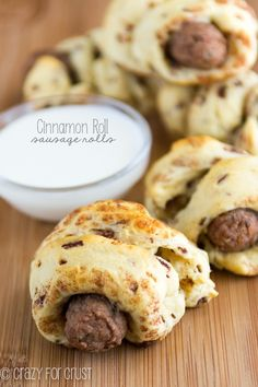 Cinnamon Roll Sausage Rolls - the perfect on the go breakfast!