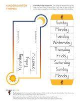 Kindergarten worksheets - Days of the week - Intermediate 8