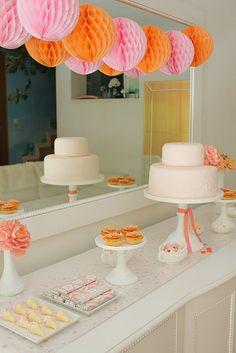 Orange & Pink girl's bday party