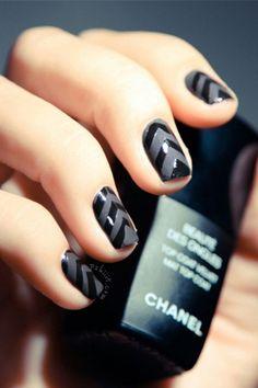 matte nails, colorful nails, black nails, matte black, spring nail, nail design, nail idea, nail art, chevron nails