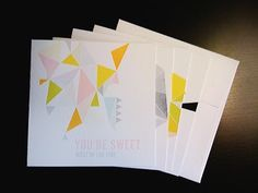 geometric notecards
