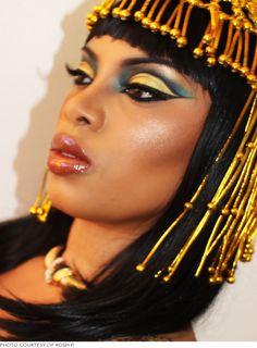 Hot Egyptian queen makeup
