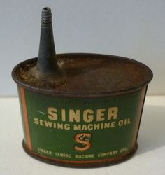 Vintage SINGER SEWING MACHINES Small OIL CAN