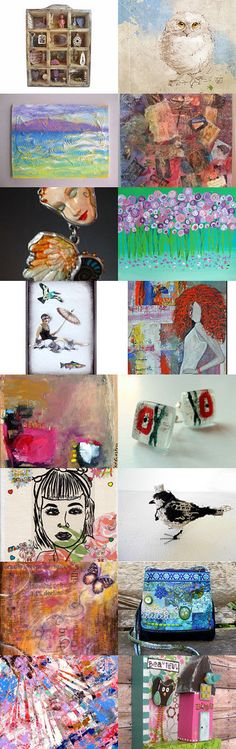 Mixed Media Monday #29 - curated by Carla's Craft on etsy.com