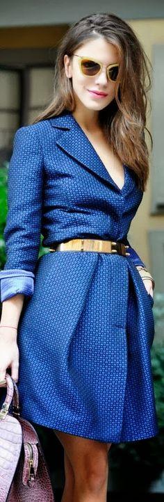 Gorgeous royal fall dress