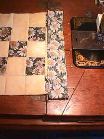 joining pre-quilted blocks