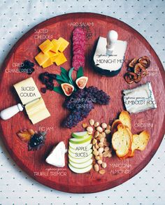 Wine  Cheese Tasting Party Ideas.  Find the Barrel Head Lazy Susan here: http://www.sterlingwineonline.com/cheese-board-platter.html