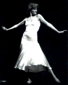 Princess Diana, expressing herself through dance!  She danced to Uptown Girl as a surprise for her husband's birthday.  I'm glad she felt the freedom and confidence to dance.