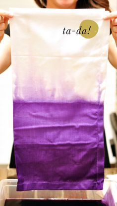 DIY: Dip Dye Ombre Napkins by Smitten on Paper