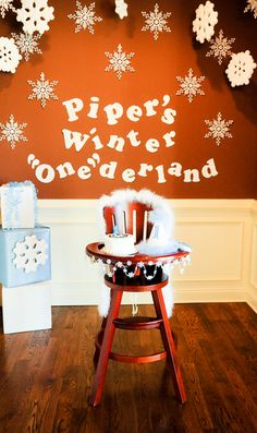 "decoration ideas  Photo 1 of 17: snowflakes and penguins / Birthday ""Winter ""One""derland"" 